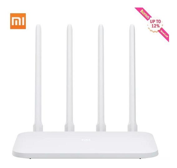 Original Xiaomi Mi Wifi Router 4c 300 Mbps 4 Antenas 12·/.o