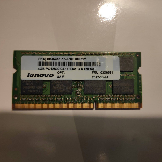 Memória P/ Notebook 4gb 2rx8 Pc3-12800s 11-10-f2 Smart