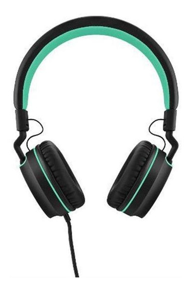 Headphone Pulse Ear Stereo P2 Preto E Verde Ph159 Multilaser