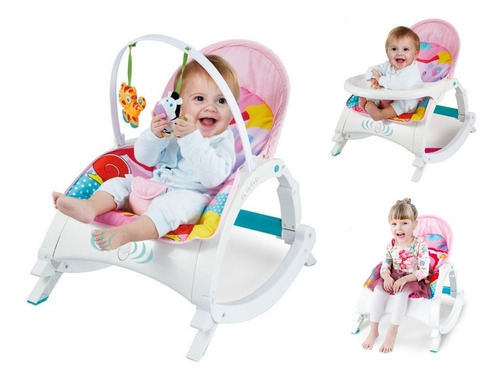 Silla Mecedora Portátil Musical 3 En 1 Bebé Recien Nacido