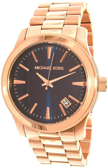 Relógio Michael Kors Mk7065 Runway Orig Chron Anal Blue