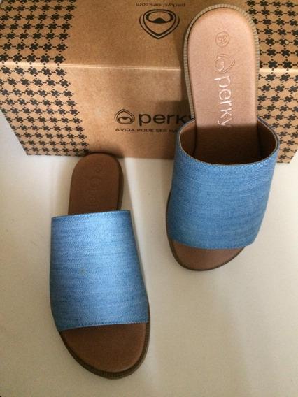 Perky Urban Sandal Light Chambray