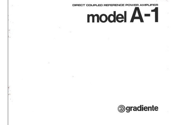 Manual Amplificador Gradiente A1 - Cópia Dig. 19 Pgs