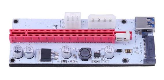 1 Pci-e X 16 X Kit De Mineração De Adaptador Extensor Com