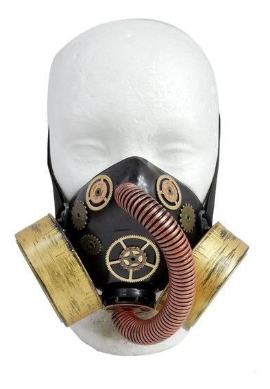 Respirador Bronze Engranes Reloj Tubo Str015 Mascara Antigas