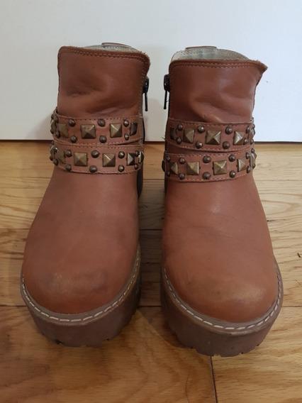 Botas De Mujer Zapato En Color Marron Talle 36 (ast)