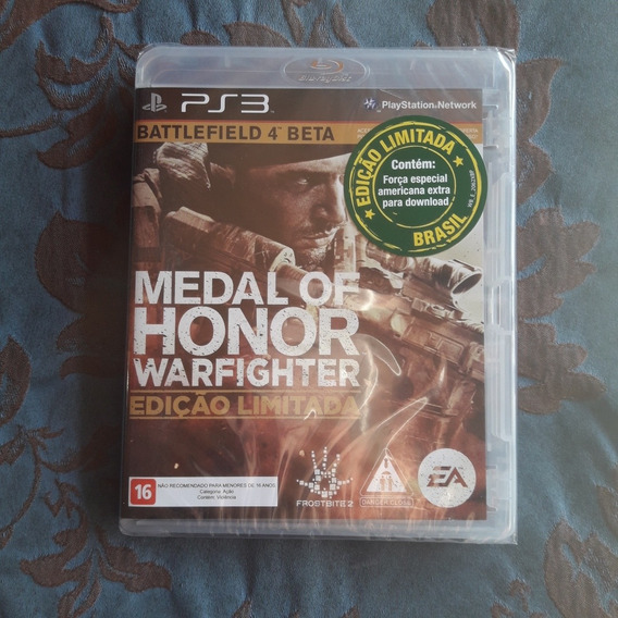 Medal Of Honor Warfighter - Novo Lacrado - Mídia Física Ps3