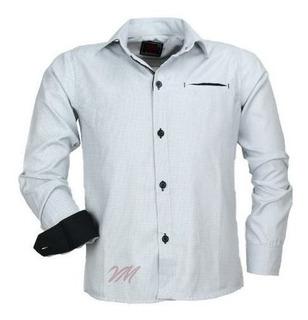 Camisa Infantil Alfa 1501 M Longa Bolso Falso 4 Lançamen Cor