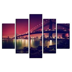 Quadro Ponte Sao Francisco Eua 108x65cm Em Md