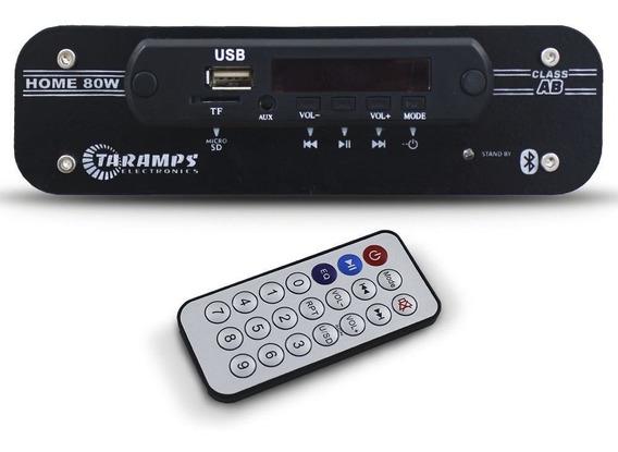 Receiver Taramps 80 Rms Home 80w Bluetooth 4 Canais 4 Ohms