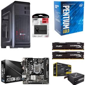 Pc Hunter Pentium G5400 Mb H310m Hg4 Hx 16gb Vs400 Ssd 120gb
