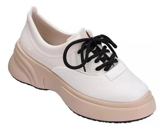 Tenis Melissa Ugly Sneaker Bege Branco Preto Original 32429
