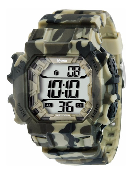 Relógio X-games Masculino Xgppd085 Camuflado Mais Vendido