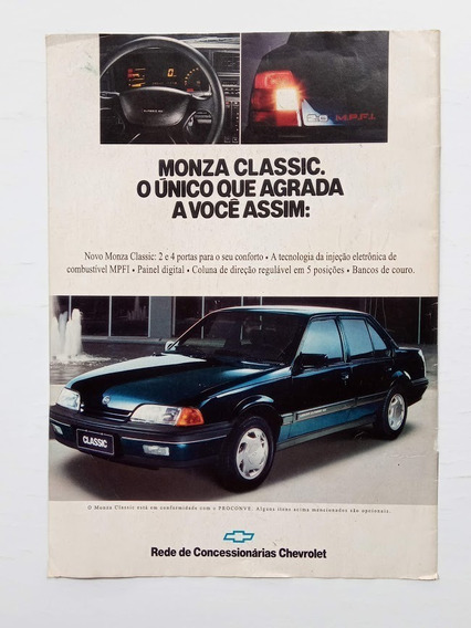 Chevrolet Monza Classic 1991 - Propaganda Antiga