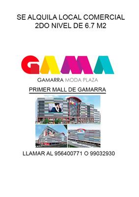 Local Comercial 2do Piso Mall Gamarra Gama