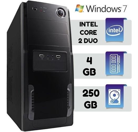 Computador Core 2 Duo + Ssd + Hd De 500 + Tudo Novo Promoção