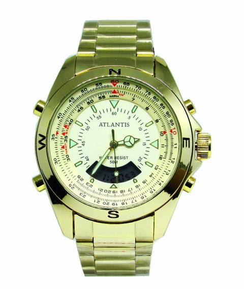 Relógio Masculino Atlantis G3389 Resistente Água Envio Gráts