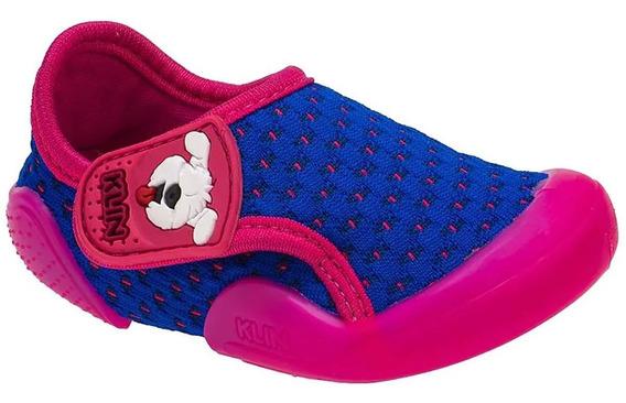 Tenis Infantil Klin Baby New Confort Azul Royal + Brinde