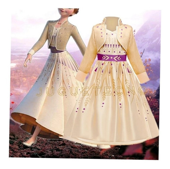 Disfraz Vestido Anna De Frozen 2 Importadas
