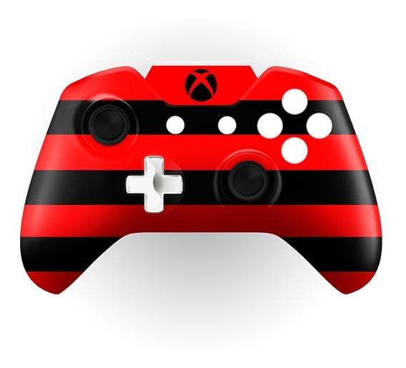 Capa Frente Controle Xbox One S E X Time Flamengo + Chave
