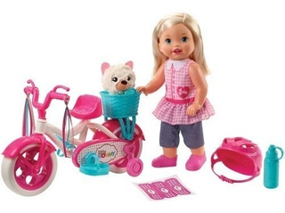 Juguete Muñeca Little Mommy Paseo De Bicicleta Fcn11 Niñas