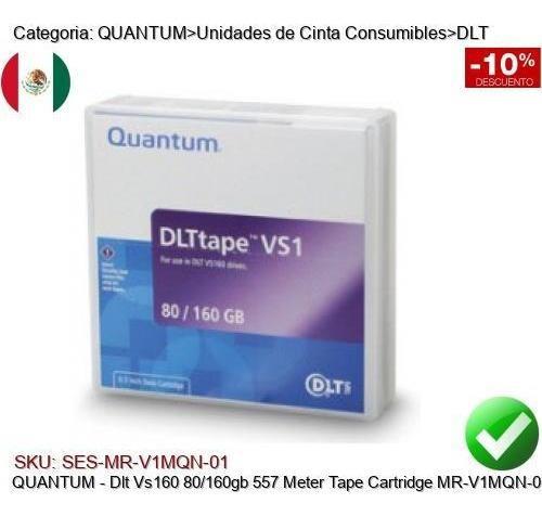 Imagen 1 de 1 de Quantum Dlt Vs160 80/160gb 557mts Cinta Respaldo Mr-v1mqn-01