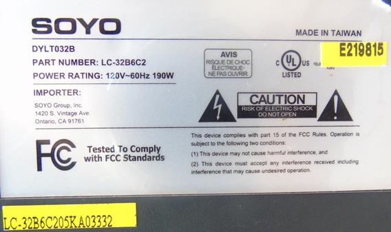 Kit Teclado E Sensor Remoto Tv Soyo Dylt032b