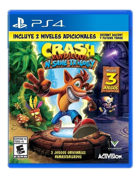 Crash Bandicoot N-sane Trilogy 2.0 Físico Ps4 Original