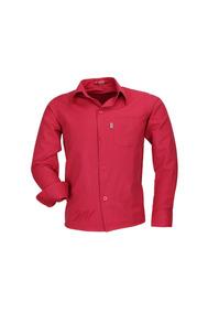 Camisa Infantil Alfa Tecido Misto Não Amassa - Vermelho - 76