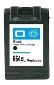Cartucho Hp 664xl Preto Compatível Pronto Para Uso Com 14ml