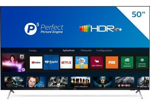 Imagem 1 de 8 de Smart Tv 4k 50'' Hdr 50pug7625 Bluetooth 3 Hdmi Philips