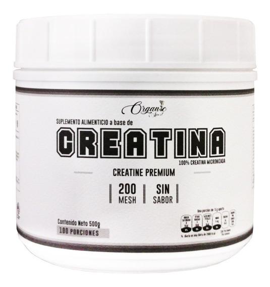 Creatina Organic Sport Creatina 500g, 100 Porciones