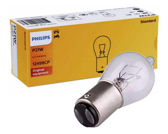 Lampada 2 Polos Philips 12v P21/5w Original - Caixa C/ 10