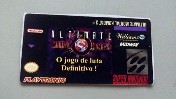 Label Mortal Kombat Ultimate Umk3 Snes Super Nintendo