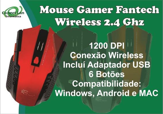 Mouse Gamer Sem Fantech 2.4 Ghz Wireless Vermelho