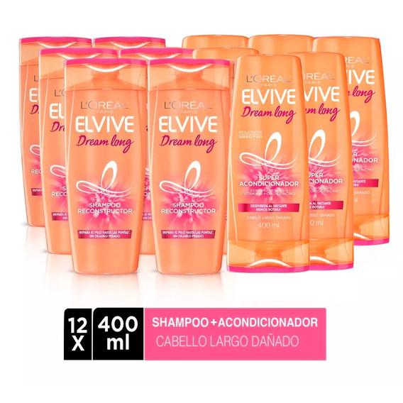 Pack 6 Shampoo Elvive Dream Long 400ml + 6 Aco 400ml Loreal