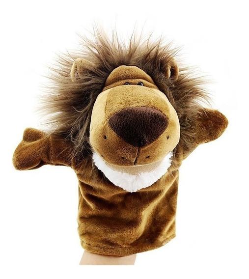 Marionete Fantoche De Mão Pelúcia Brincadeira Cão Leão Giraf
