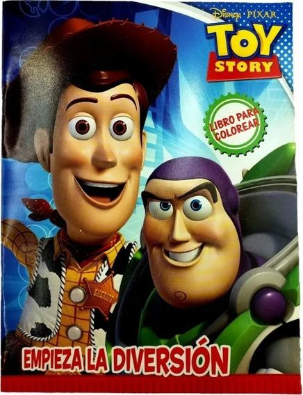 Libro Para Colorear Toy Story Disney Buzz Woody 16 Paginas