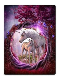 Mantas Manta De Forro Polar Para Sofá Cama Unicornio Caball