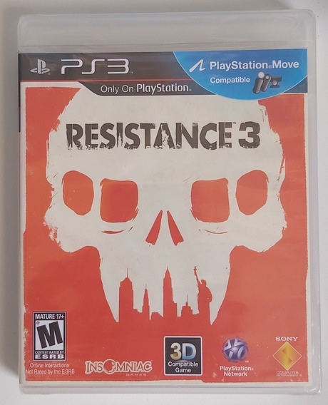 Jogo Resistance 3 - Ps3 - Mídia Física - Lacrado