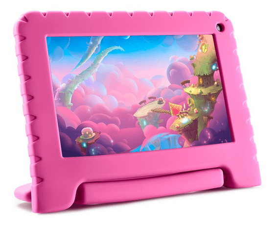 Tablet Kid Pad Rosa Lite 16gb 7 Rs Nb303 Multilaser