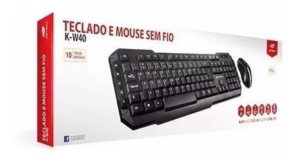 Kit Teclado E Mouse Sem Fio C3tech K-w40