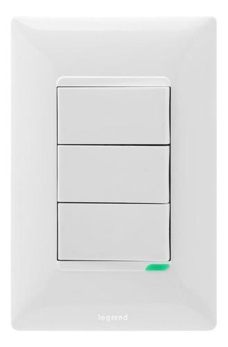 Interruptor Triple Futura Legrand X 6 Unds