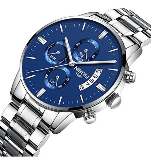 Relógio Nibosi Original Todo Funcional Promoção Relâmpago