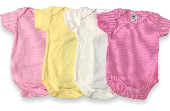 Kit Body Bebê Menina Com 4 Peças Atacado Ótima Qualidade