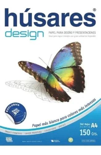 Imagen 1 de 2 de Resma Husares Design A4 100 Hojas 150 Grs Blanco