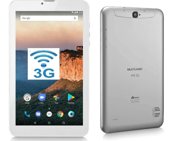 Tablet Multilaser M9 3g Dual Chip 8gb 9 Nb284 Nota Fiscal