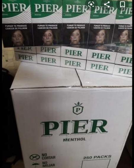 Cigarrillos Pier Mentolados 25 Cartones De 10 Paquetes × 20