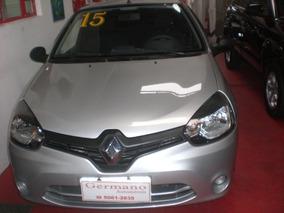 Renault Clio 1.0 16v Authentique Hi-power 3p Prata 14/15