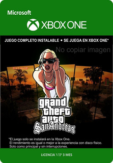 Gta San Andreas Hd Xbox One - - Envío Gratis - -